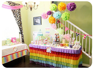 Rainbow Theme Birthday Party