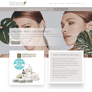 beauty shop web design
