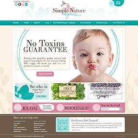 baby boutique web design