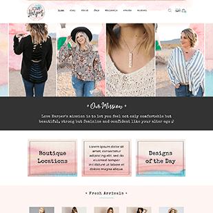 womens clothing boutique web design