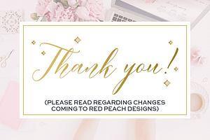 Changes coming to Red Peach Designs
