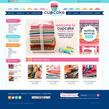 Cupcake Fabric & Quilts
