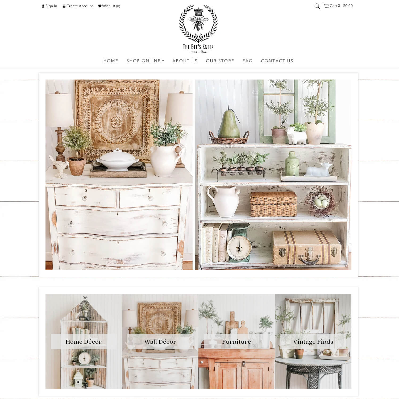 interior decor website design