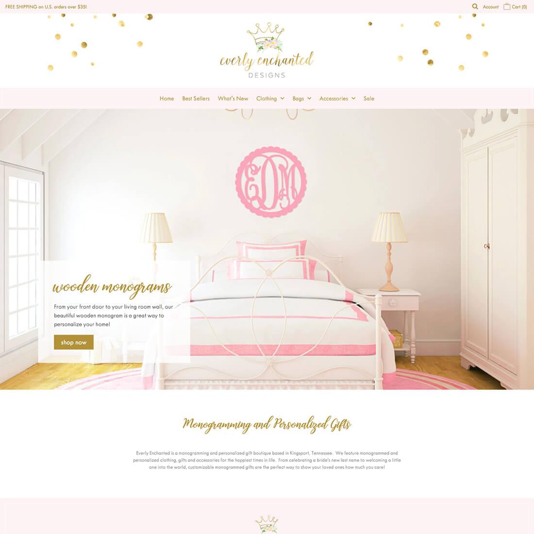 monogram boutique web design